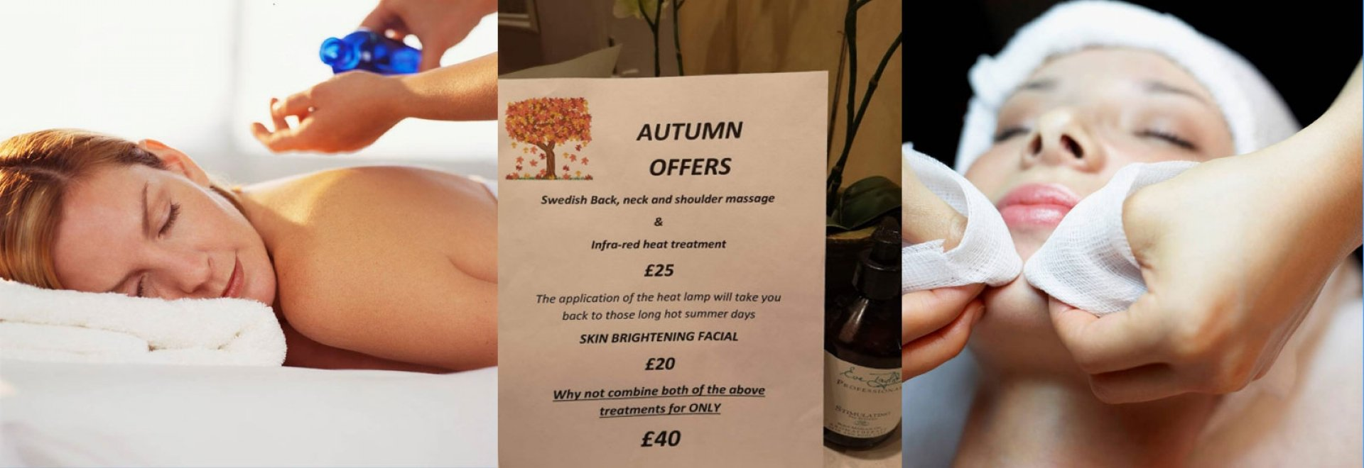 leisure beauty header centre text space autumn offer