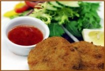 restaurant food fishcakes