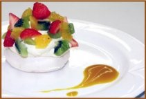 restaurant food ham pavlova