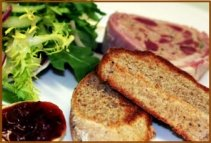 restaurant food ham terrine
